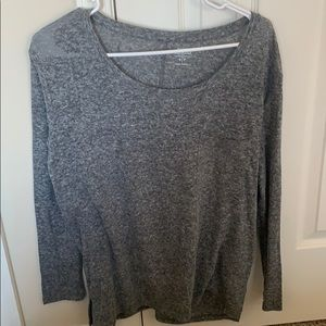 Gray Long sleeve with pocket